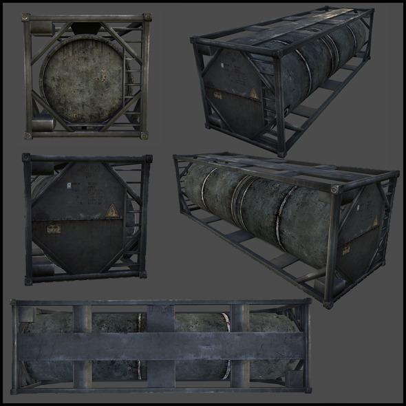 3DOcean Oil Tank 4508882
