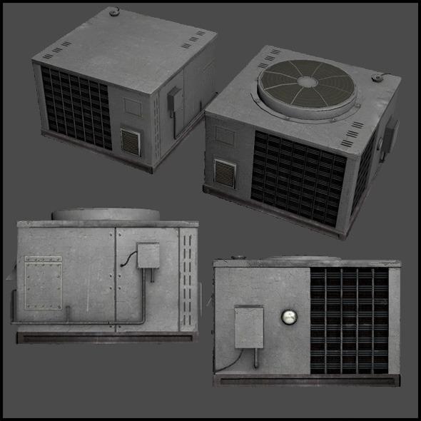3DOcean Large Air Conditioner Unit 4509133