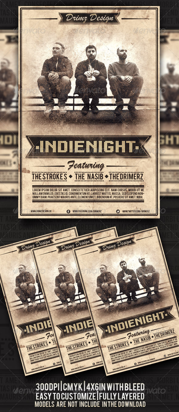 GraphicRiver Indie Night Flyer 4509147