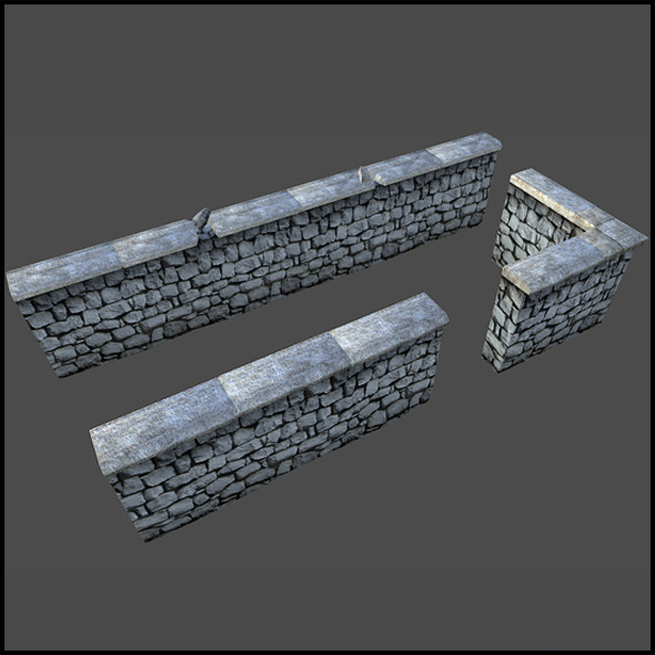 3DOcean Stone Wall 4509377