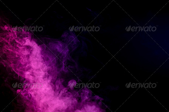 Abstract pink smoke on black background - Stock Photo - Images