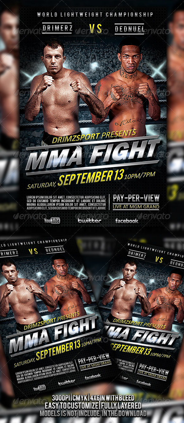 GraphicRiver MMA Fight Flyer 4509735