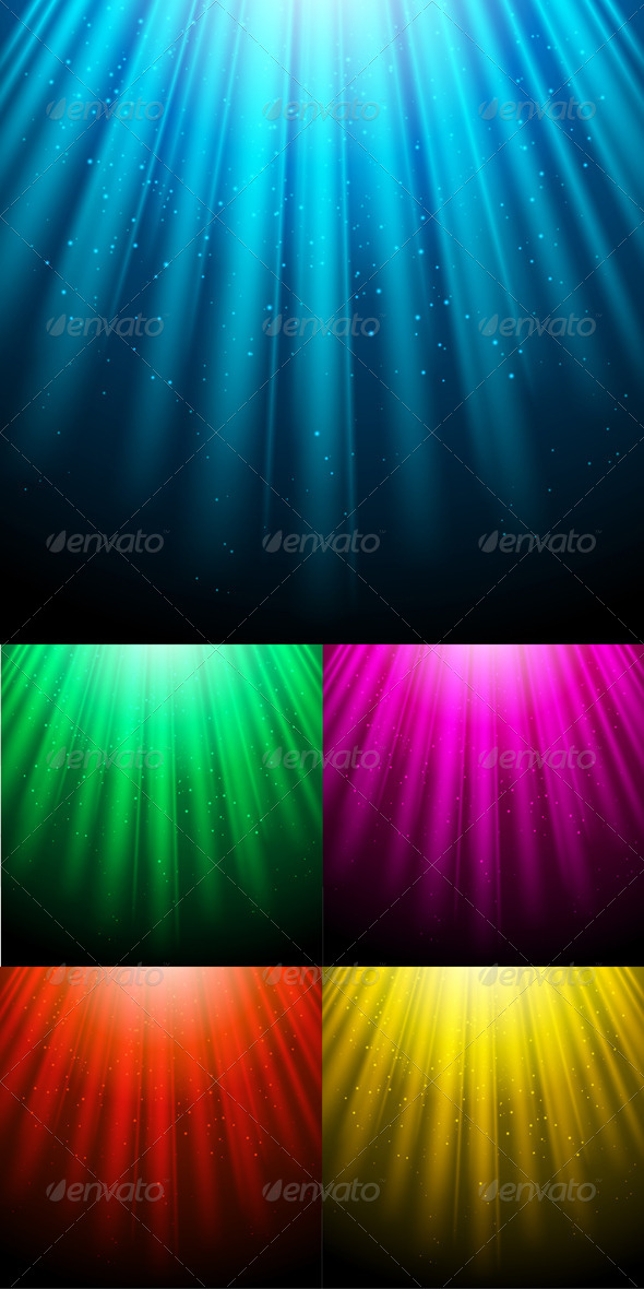 GraphicRiver Glowing Light Backgrounds with Luminous Rays 4510136
