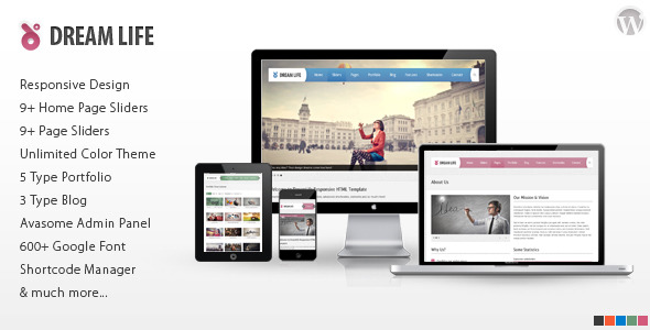 DreamLife Responsive Multi-Purpose WordPress Theme