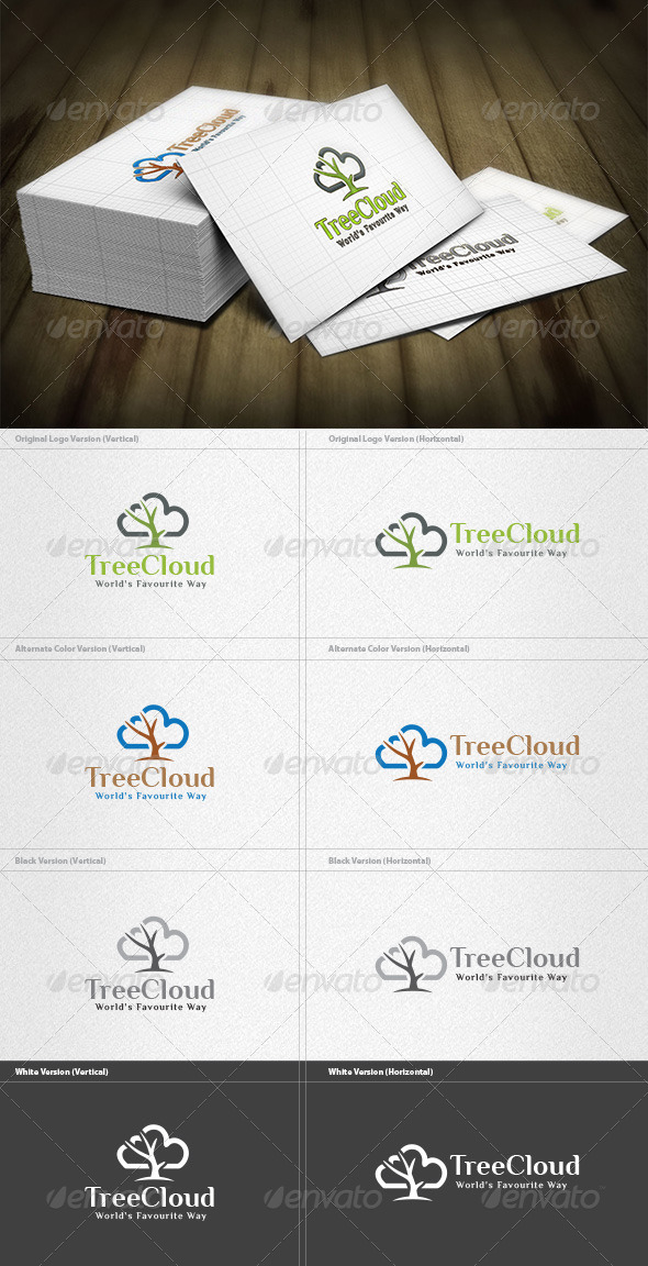 GraphicRiver Tree Cloud Logo 4512591