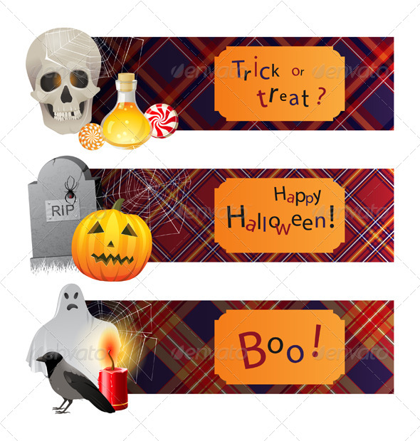 GraphicRiver Halloween Banners 4513106
