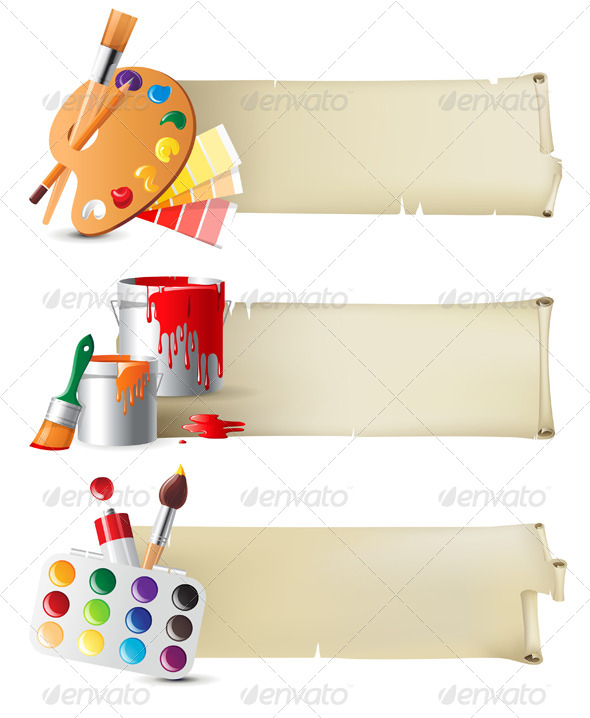 GraphicRiver Banners with Drawing Tools 4513347