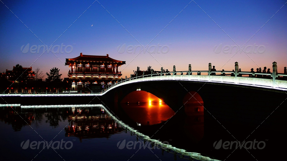 Stock Photo - PhotoDune Night scenes of Xian China 528146