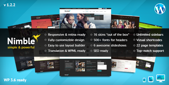 Nimble — Multipurpose Retina Ready WordPress Theme