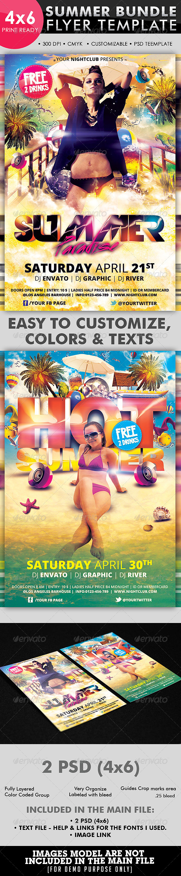 Summer Flyer Bundle Vol_02 - Clubs & Parties Events