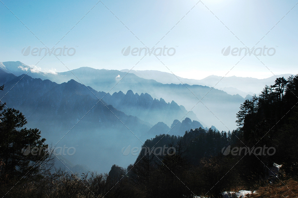 Landscape of mountains - Stock Photo - Images