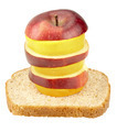 Healthy Bread And Fruit Stack - PhotoDune Item for Sale