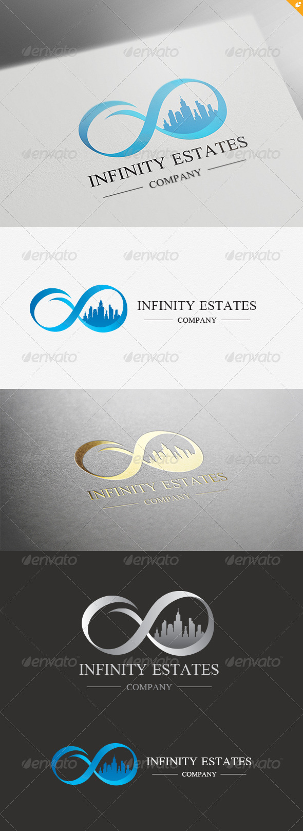 GraphicRiver Infinity Estates Logo 4514570