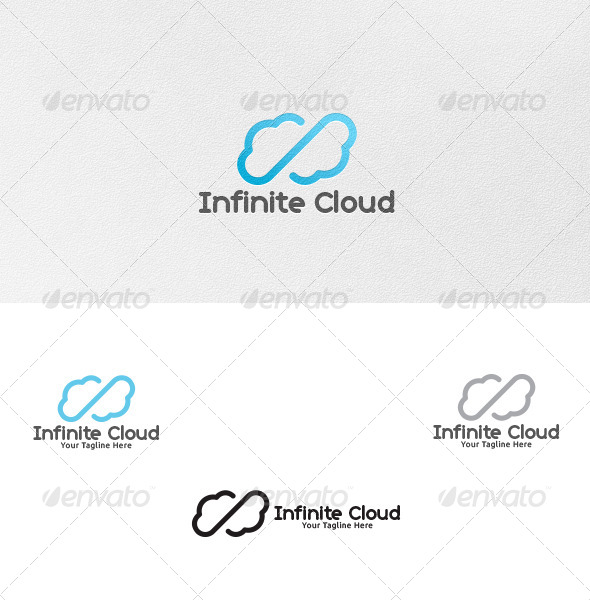 GraphicRiver Infinity Cloud Logo Template 4514575