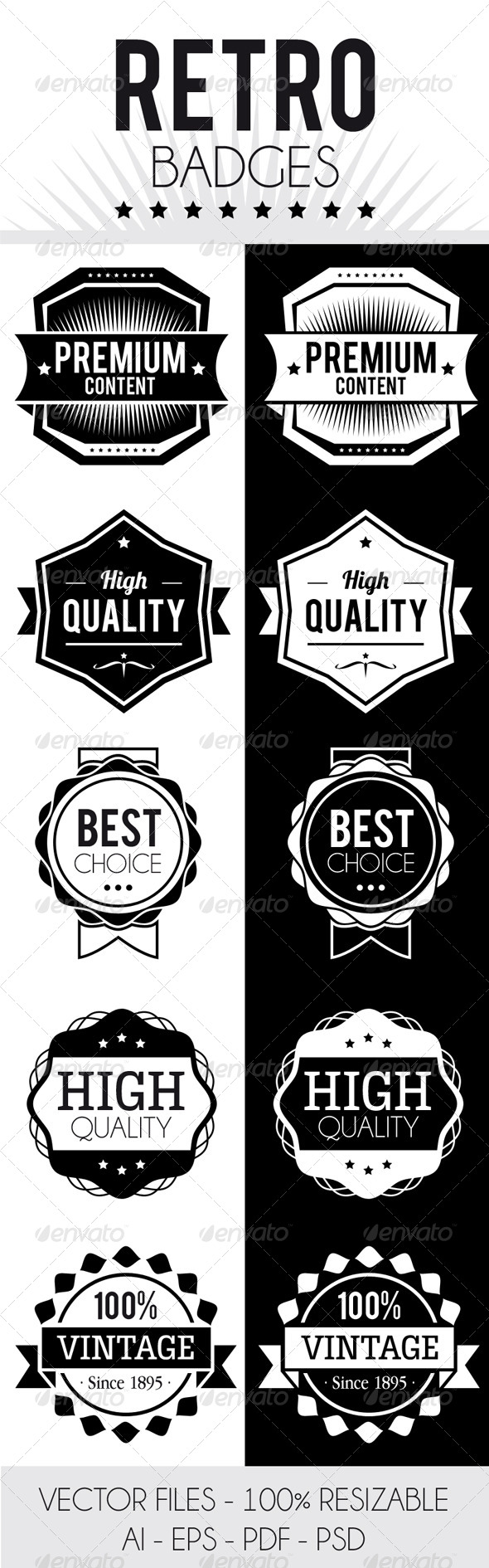 GraphicRiver Retro Badges 4514744