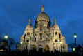 Nightfall in the sacre coeur, Montmartre, Paris, Ile de France, - PhotoDune Item for Sale