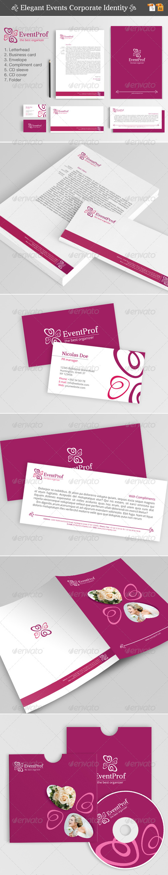GraphicRiver Elegant Events Corporate Identity 4515102