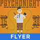 PsychoNight - Vintage/Retro Poster  - GraphicRiver Item for Sale