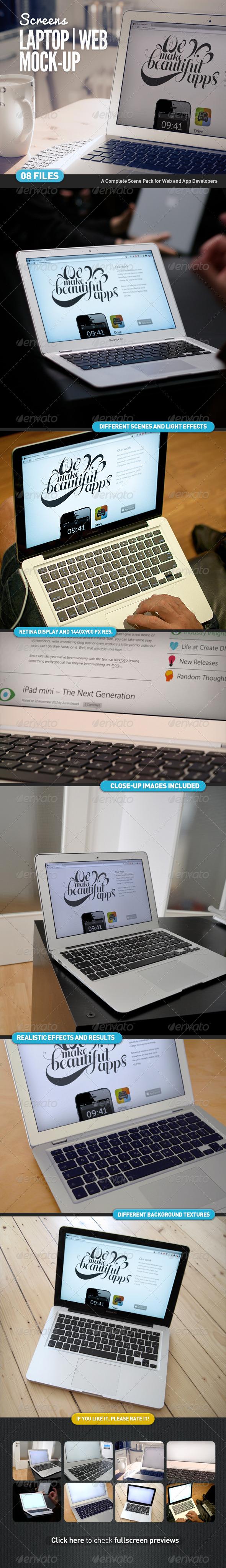 GraphicRiver Laptop Web App Mock-Up 4516321
