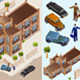 Isometric Building and Map Set - GraphicRiver Item for Sale