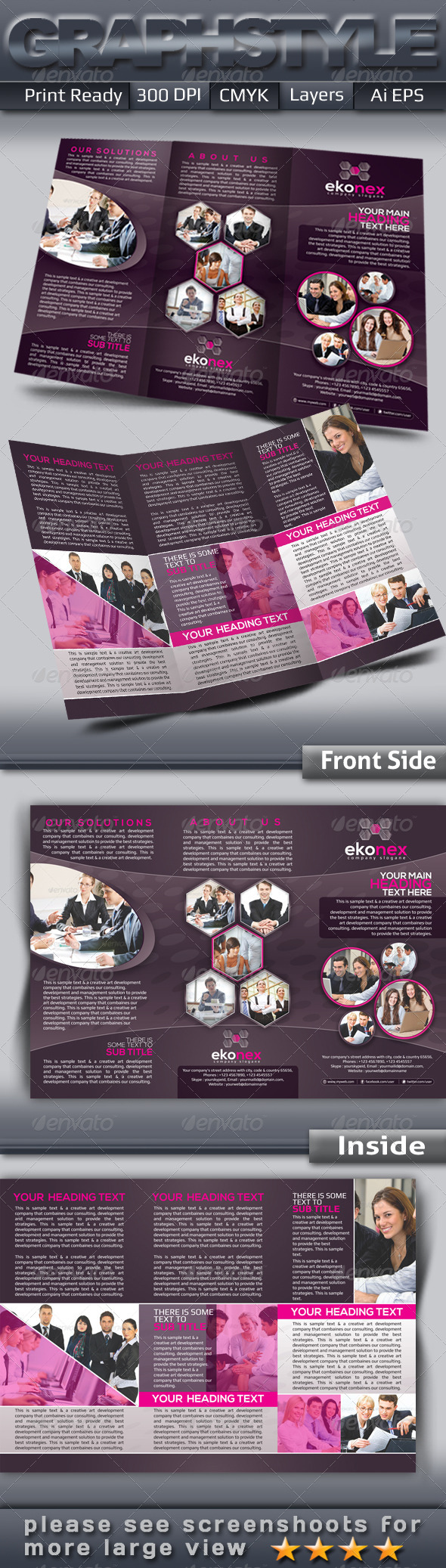 GraphicRiver Ekonex Tri-fold Corporate Business Brochure 4518850