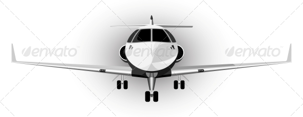 GraphicRiver Vector Illustration of a Plane 4519232