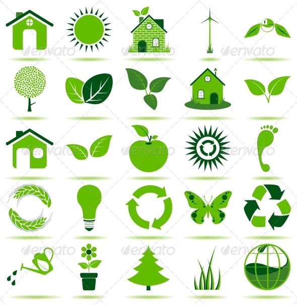 GraphicRiver Green Eco Icons 4519234