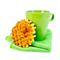 Waffles circle with a green mug - PhotoDune Item for Sale