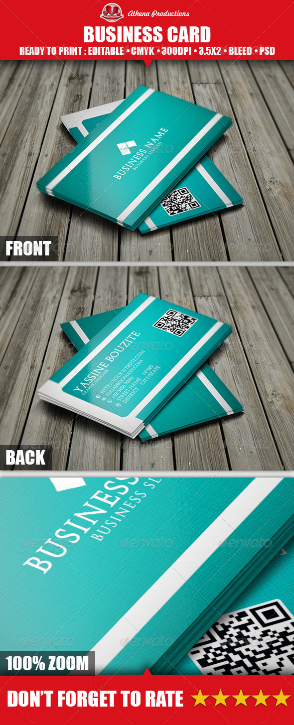 GraphicRiver Corporate Business Card 3856140
