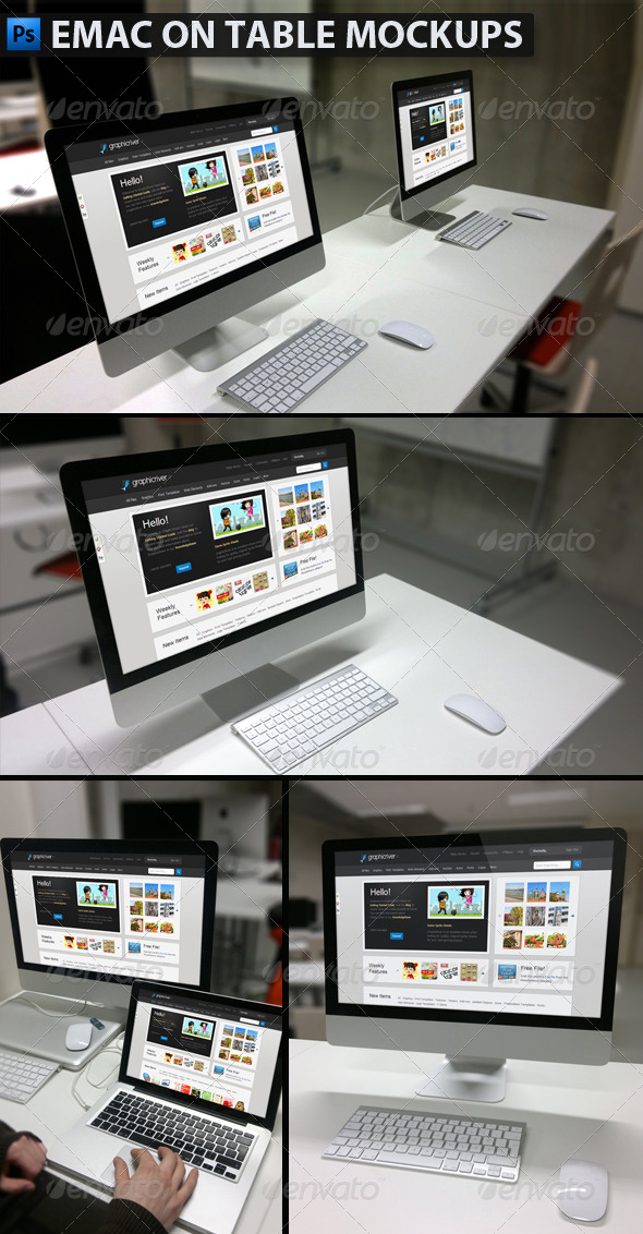 GraphicRiver Emac on Table Mockups 4520815