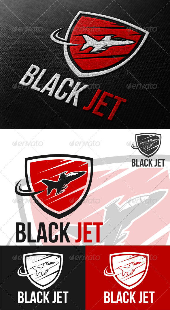 GraphicRiver black jet 4521350
