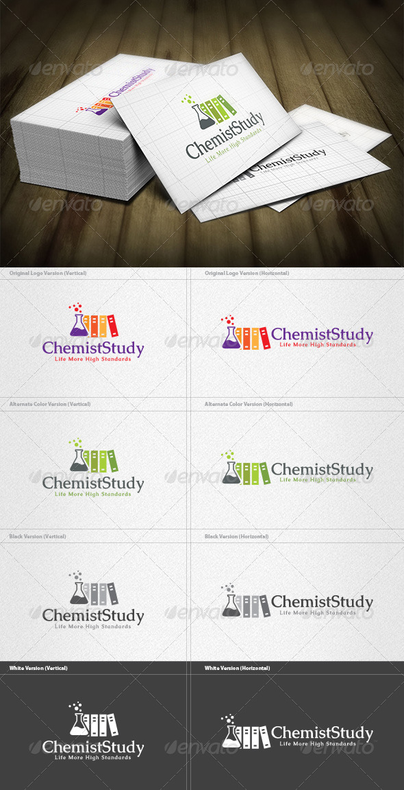 Chemist Library Logo - Objects Logo Templates