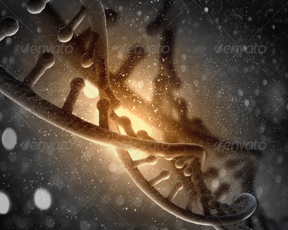 DNA molecule - Stock Photo - Images