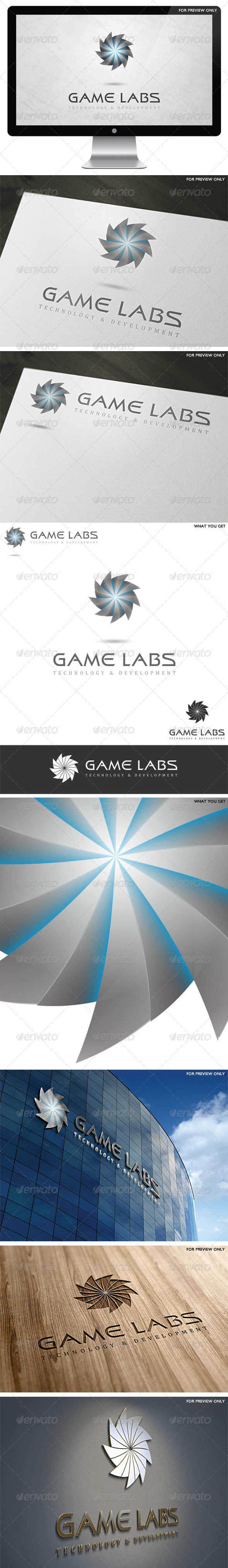 3D Game Labs Logo Template v1 - 3d Abstract