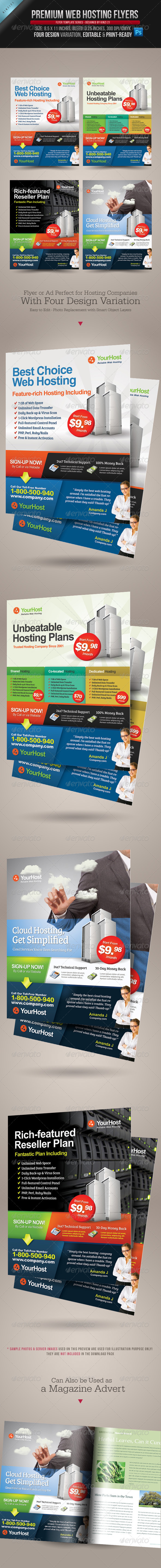 GraphicRiver Premium Web Hosting Flyers 4522771