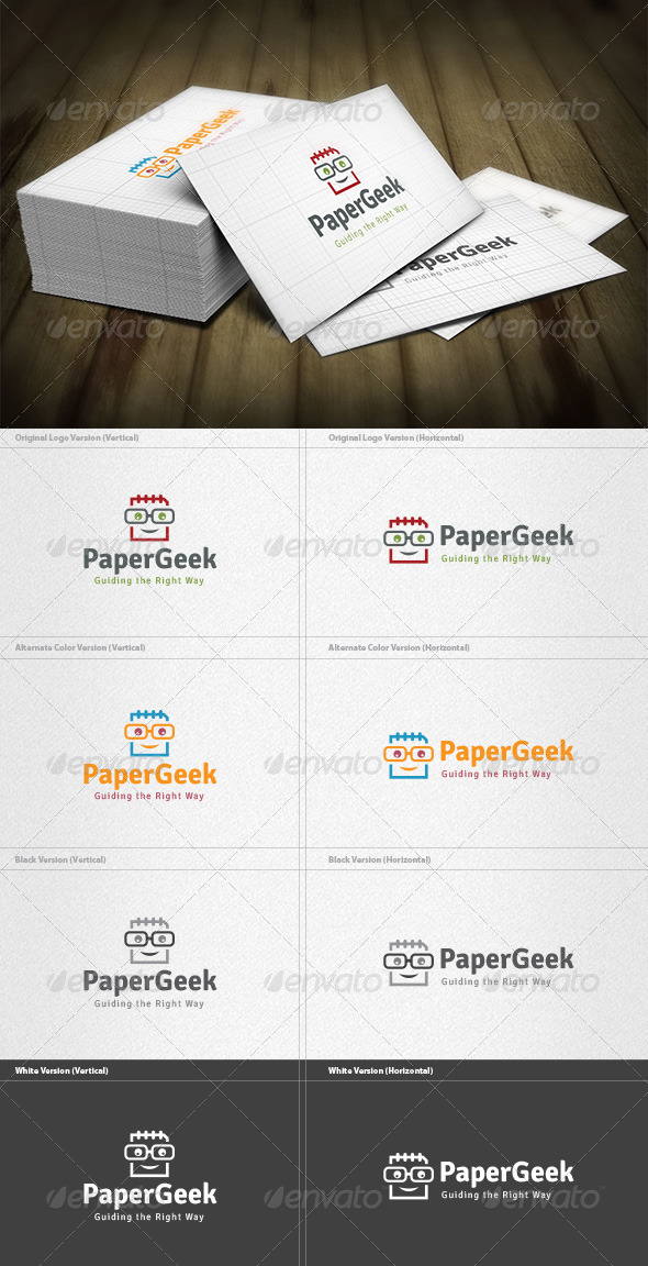 GraphicRiver Paper Geek Logo 4522879