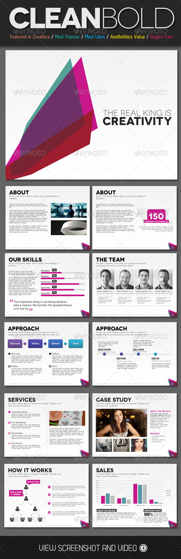 GraphicRiver Clean Bold PowerPoint Template 4523100