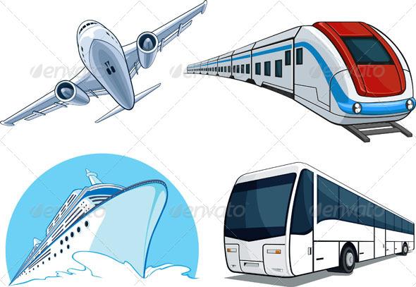 GraphicRiver Travel Transportation Set 4523102