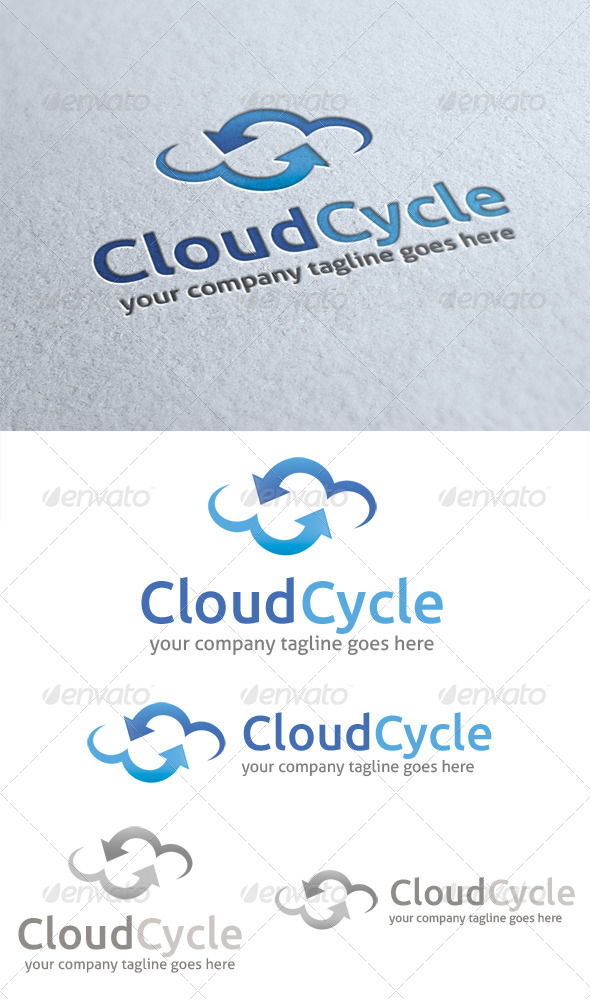 GraphicRiver Cloud Cycle Logo 4523572