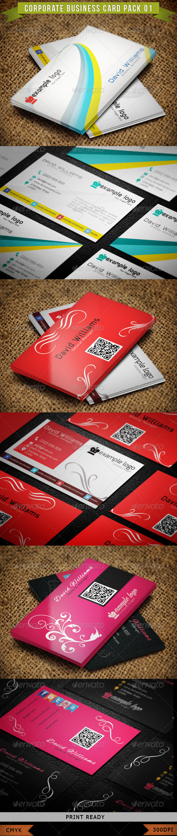 GraphicRiver Corporate Business Card Bundle 4524022