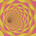 3d render diagonal tiled tunnel pink orange yellow - PhotoDune Item for Sale