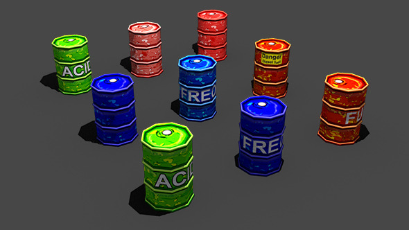 3DOcean Toon Barrels 4524444
