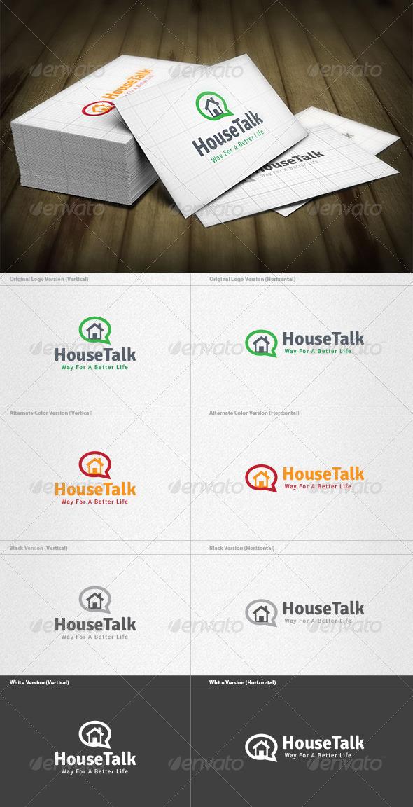 GraphicRiver House Talk Logo 4524779