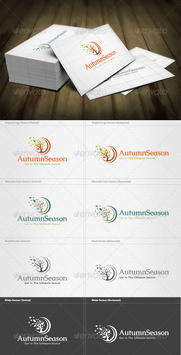 GraphicRiver Autumn Season Logo 4525365