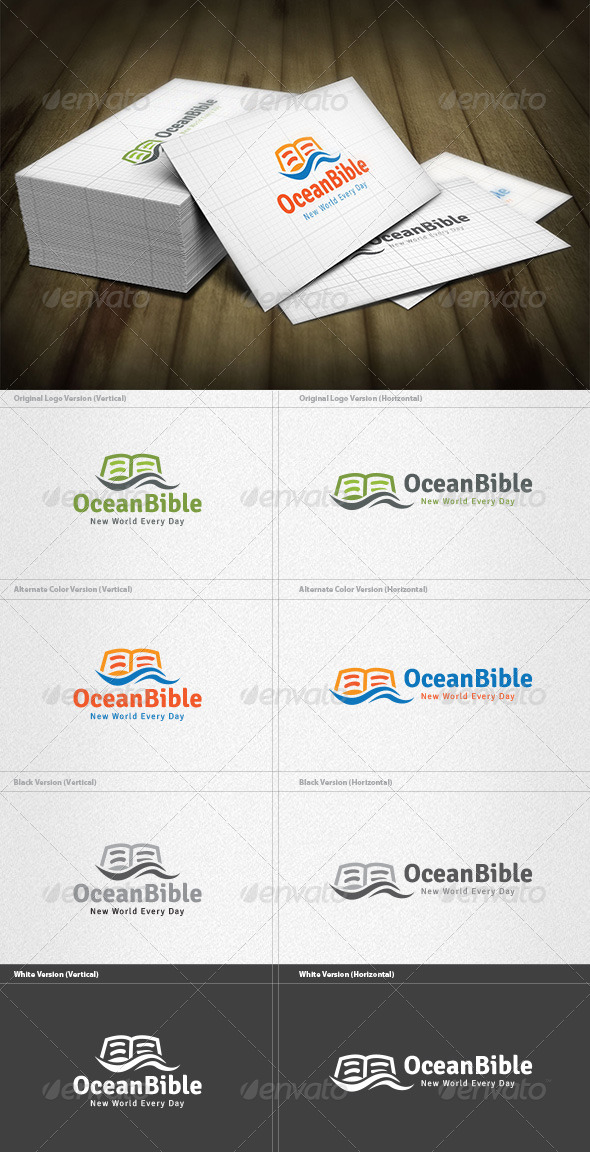 GraphicRiver Ocean Bible Logo 4525496