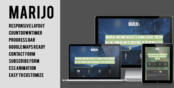 Marijo - Responsive Under Construction Template - Under Construction Specialty Pages