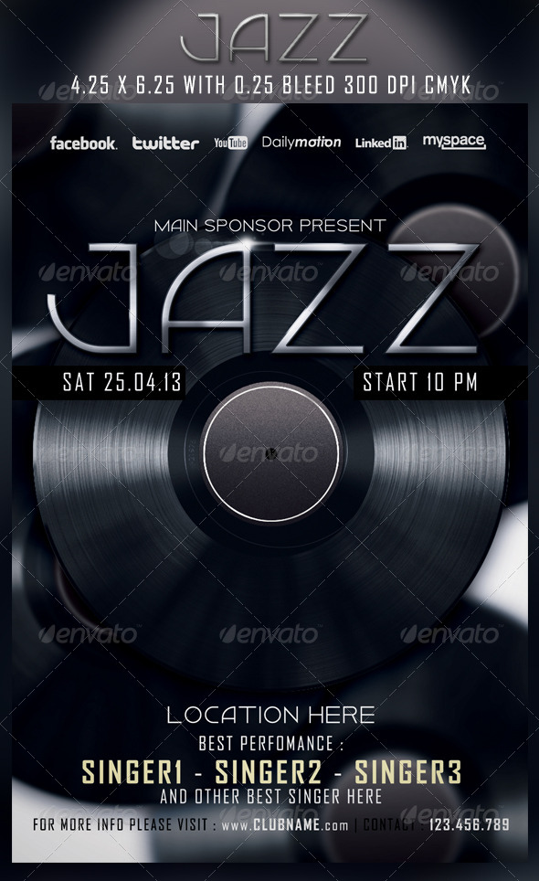 Jazz Flyer Template - Concerts Events