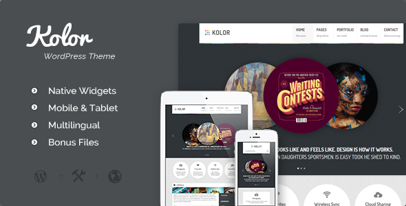 Kolor: Responsive Business and Portfolio Theme