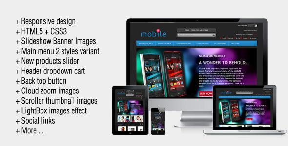 MobileDark Responsive Magento Theme - Magento eCommerce