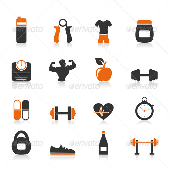 GraphicRiver Fitness an Icon 4526006
